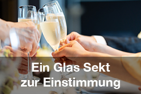 Restaurants mit Brunch-Buffet Sektglas