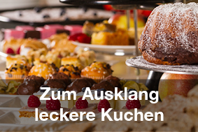 Restaurants mit Brunch-Buffet Kuchen